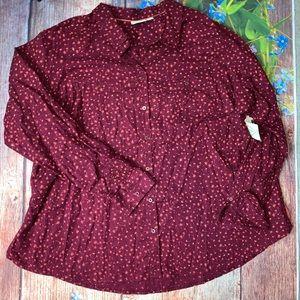 NWT St John's Bay 2X Cotton Buttoned Casual Shirt
